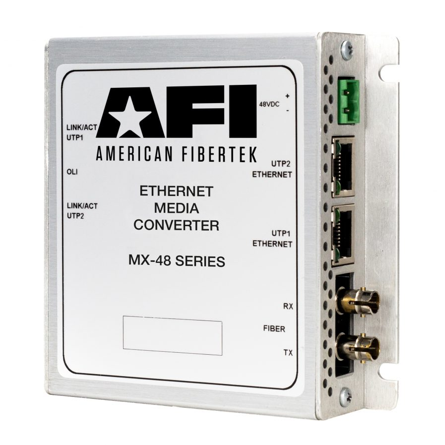 American Fibertek MX-48 IP Media Converter Series.