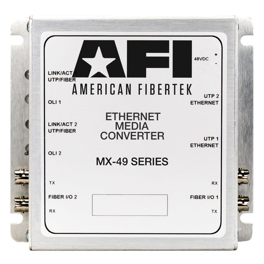 merican Fibertek MX-49 IP Media Converter Series.