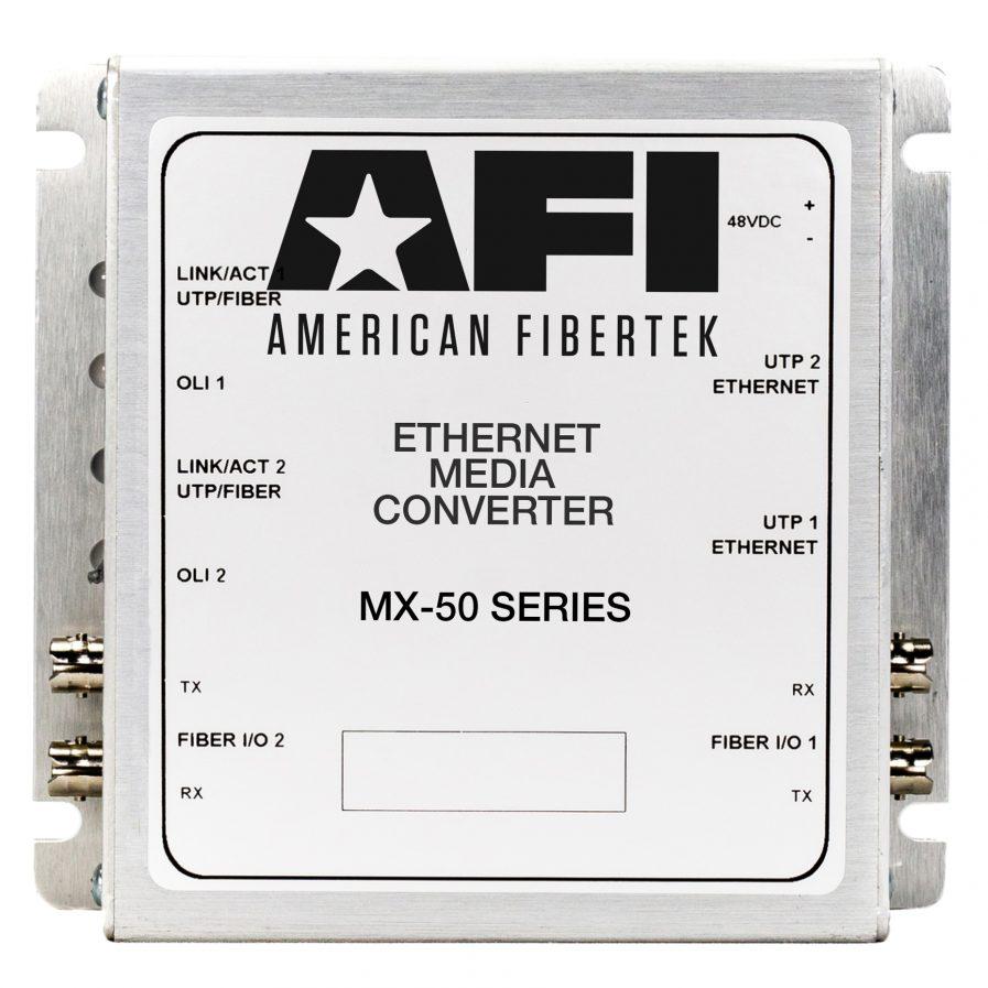 American Fibertek MX-50 IP Media Converter Series.