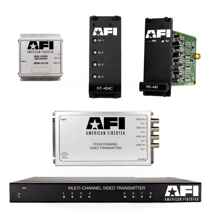 The American Fibertek M-301CE Series transmits one channel of high-quality FM video on one optical fiber at 1310 nm for extended range applications.