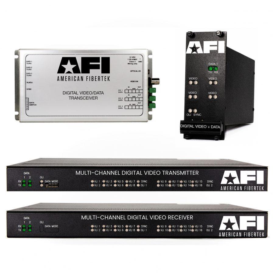 The American Fibertek 9XPlus series offers over 400 varieties of configurations of digital video, data, contact closures, and audio transmissions.